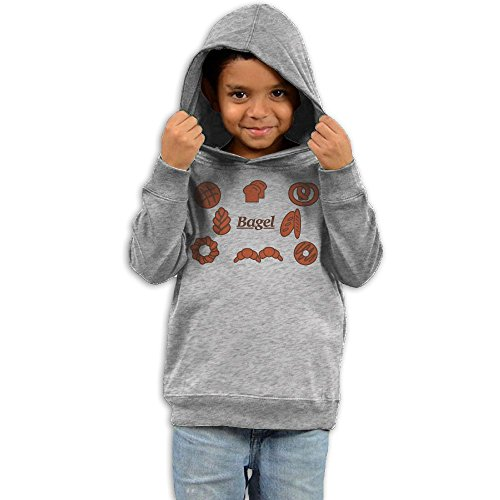 Unyiqun Bagel and Bread Toddler Hoodies - Soft and Cozy Hooded Sweatshirts 4 Toddler - Up Baby Spice Ideas Dress