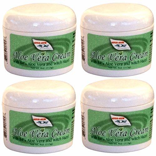 VITA-MYR 4 Pk Vitamyr Aloe Vera Cream W/ 84% Aloe Vera & Witch Hazel NEW! All Natural Soothing Vegan & Gluten Free All-Season Skin Moisturizer & Maintenance Heals & Soothes Sunburns Effective!