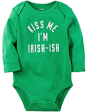 Carter's Baby Girls' Slogan Bodysuit