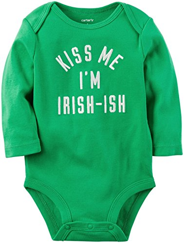 [Carter's Unisex Baby Bodysuits 119g164, Green, 9M] (St Patricks Day Shirts For Toddlers)