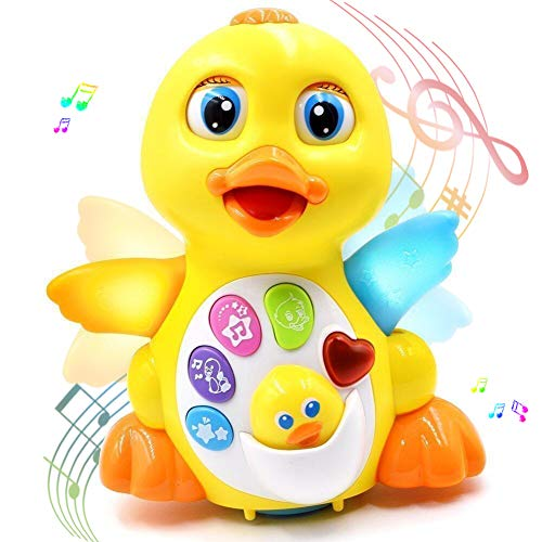 rolimate Musical Toys for 1 Year Olds, Flapping Yellow Duck Baby Toys Action Educational Learning and Walking Talking Dancing Toy Preschool Musical Toy Best Birthday Gift for Baby Toys 6 to 12 Months