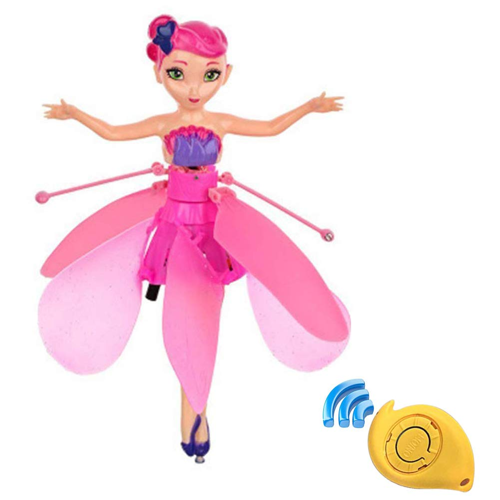Minaliv Flying Fairy Doll Girl Infrared Sensor Control Remote Control Child Toy Flying Princess Doll (Pink) by Minaliv