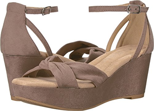 CL by Chinese Laundry Women's Devin Wedge Sandal, Dusty Taupe Suede, 7.5 M US ()