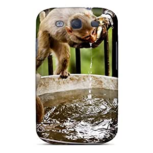 Defender For Case Iphone 5/5S Cover, Monkey Bath Pattern
