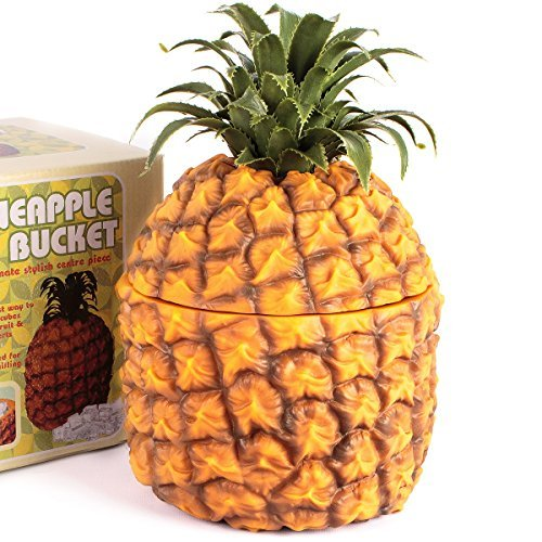 CKB Ltd Retro Pineapple Ice Bucket Insulated 1500Milliliter - Vintage Hawaiian Fruit Themed Centre Piece - Used To Chill Bottles but Can Also Be Used for Chopped Fruit Ice Desserts - Hawaiian Center