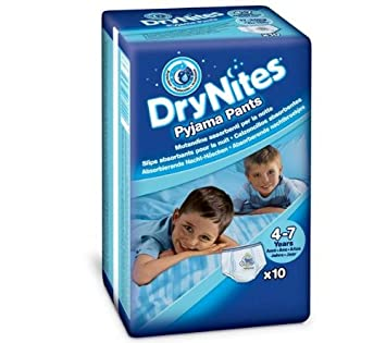HUGGIES Pañales DryNites Boy Talla 4-7 años (17 à 30 kg) -