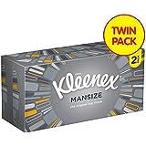 Kleenex Mansize White Tissues Twin Pack 2 x 100 per pack