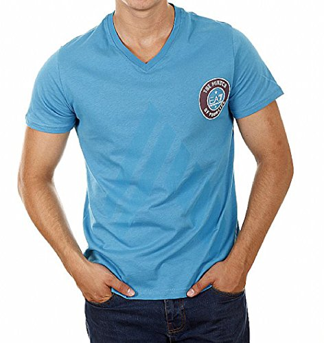 Emporio Armani EA7 T-Shirt V-Neck blau M