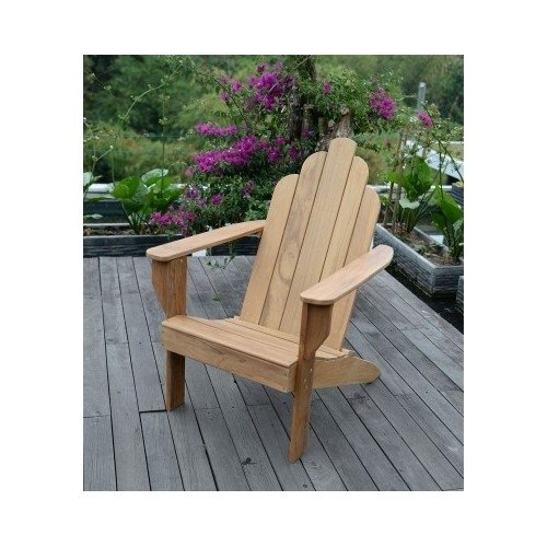All Natural Teak Wood Adirondack Chair