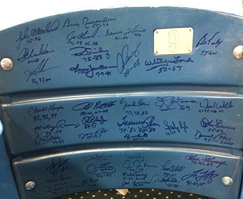 Yankees Stadium Multi Signed Seatback Full Chair 39 Autos Steiner Jeter Rivera (Stadium Chairs Yankee)