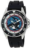 eWatchFactory Men's 'Shark Week' Quartz Stainless Steel and Rubber Sport Watch, Color:Black (Model: WDC000068)