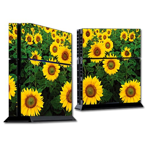 MightySkins Skin Compatible with Sony Playstation 4 PS4 Console wrap Sticker Skins Sunflowers