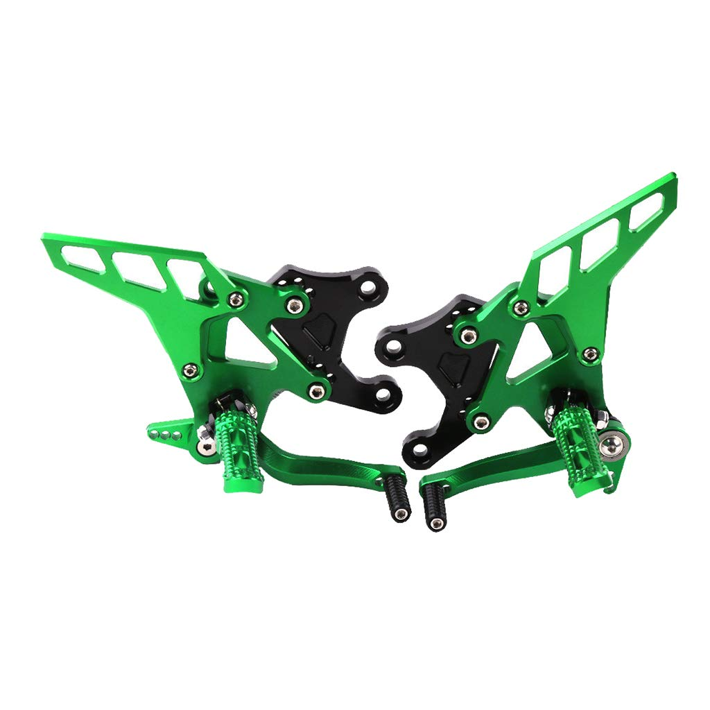 Verde Gazechimp Reposapi/és de Aluminio para Motocicleta Universal Port/átil Soporte de Pie de Pasajero para Moto Kawasaki Z900 2017 Los 32x25x24cm