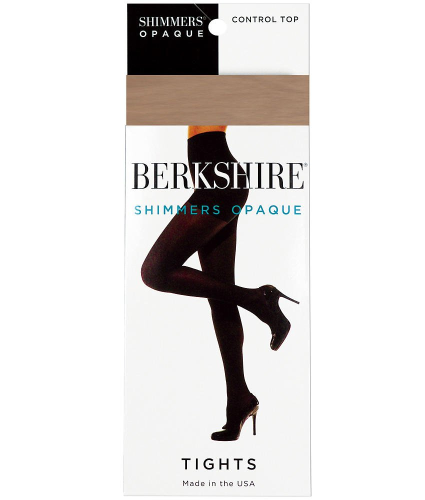 Berkshire Shimmers Control Top Opaque Tights, 5x-6x, Nude