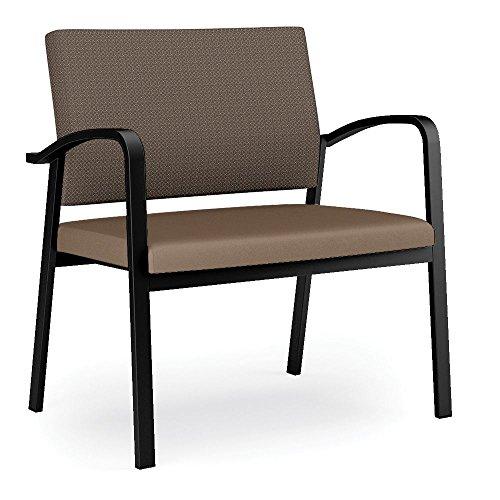 Newport Fabric Back Vinyl Seat Bariatric Guest Chair Dimensions: 33