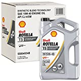 Shell Rotella T ROTELLA 550045348-3PK T5 Synthetic Blend Motor Diesel Oil, (15W-40 CK-4), 3 Pack, 1 Gallon