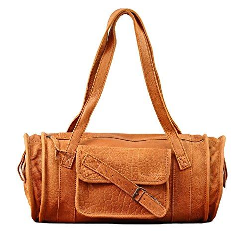 MARIE Sable sac à main en cuir forme polochon style vintage PAUL MARIUS