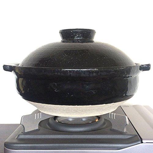 NISHIO Japanese Clay Pot -Donabe- Earthen Pot (large) for Ramen, Udon Noodles, Soup by NISHIO