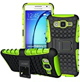 Galaxy On5 Case, OEAGO Samsung Galaxy On5 Case [Shockproof] [Impact Protection] Tough Rugged Dual Layer Protective Case with Kickstand for Samsung Galaxy On5 - Green