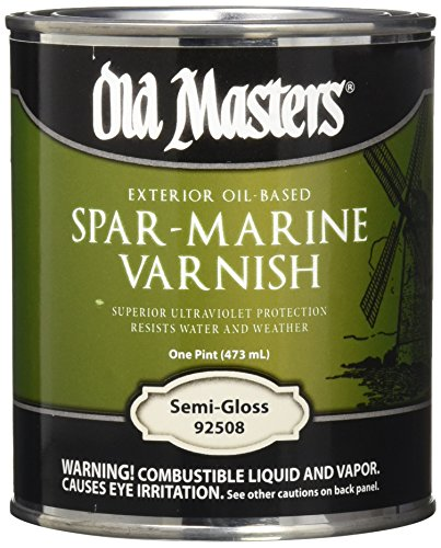 Old Masters 12226 92508 Spar-Marine Varnish, Semi-Gloss, 1 Pint