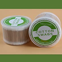 Valleycomfy Wooden Stick Cotton Swabs/Qtips(500CTx2) - Double Tipped With Finest Quality Cotton Heads- Multipurpose, Safe, Highly Absorbent & Hygienic