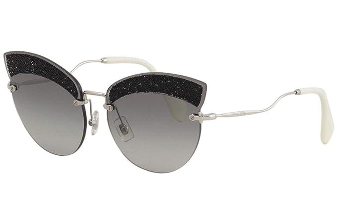 8b01a98459bf Miu Miu MU58TS U983M1 Silver MU58TS Cats Eyes Sunglasses Lens Category 2  Size 6  Amazon.co.uk  Clothing