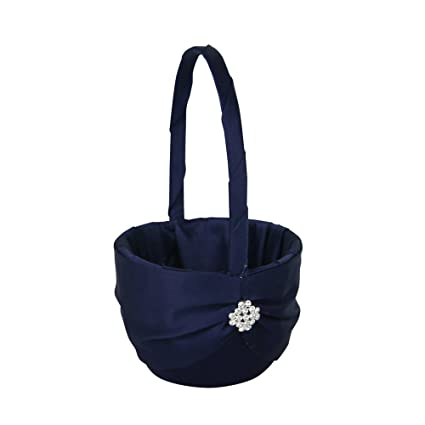 a07df020fcade Amazon.com: Ivy Lane Design Garbo Collection Flower Girl Basket for ...