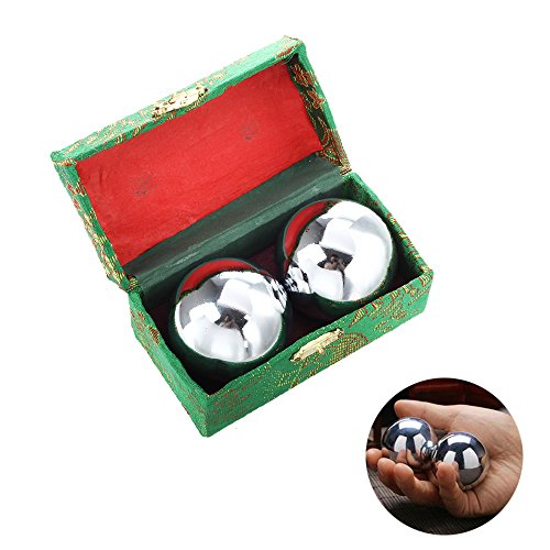 baoding balls,chinese stress balls for hands,moonee steel stress balls with green box