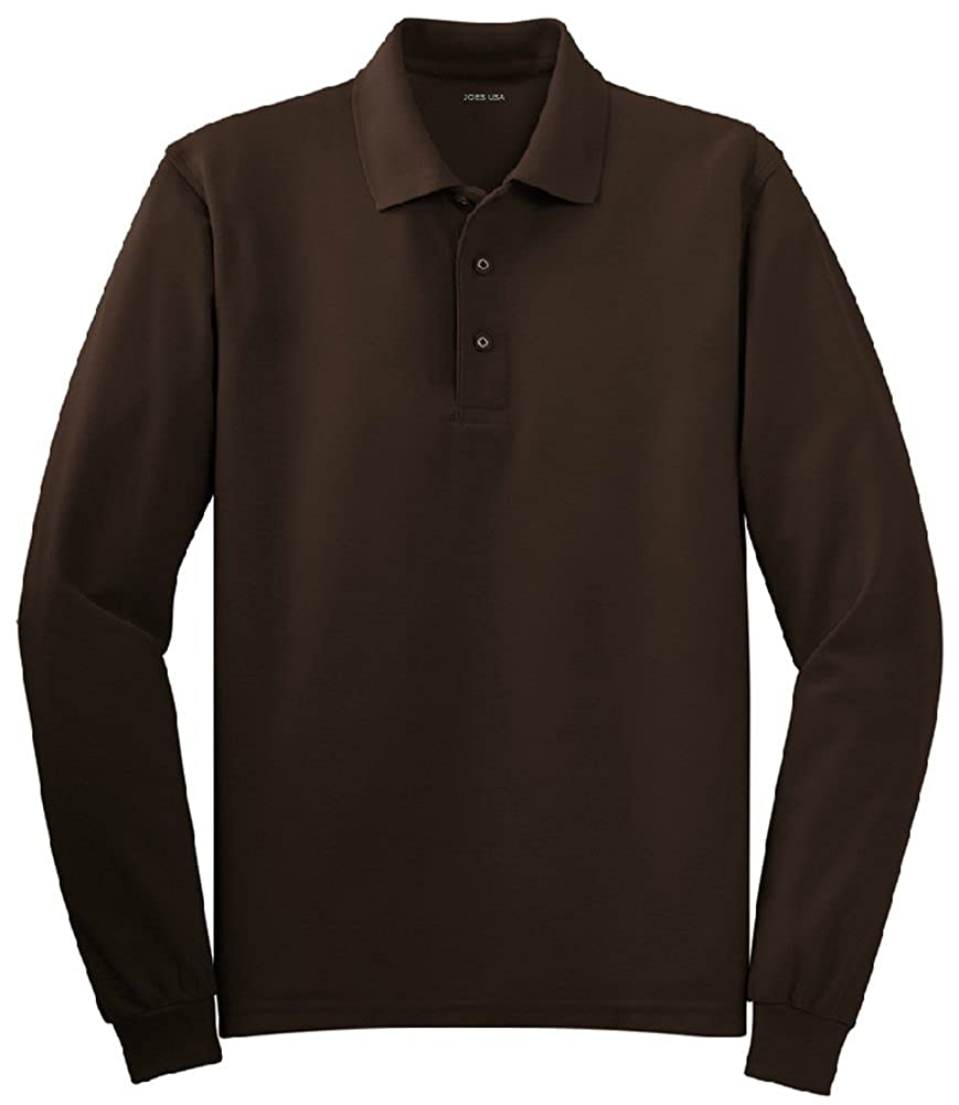 Mens Long Sleeve Polo Shirts in 10 Colors. Regular and Tall Sizes ...
