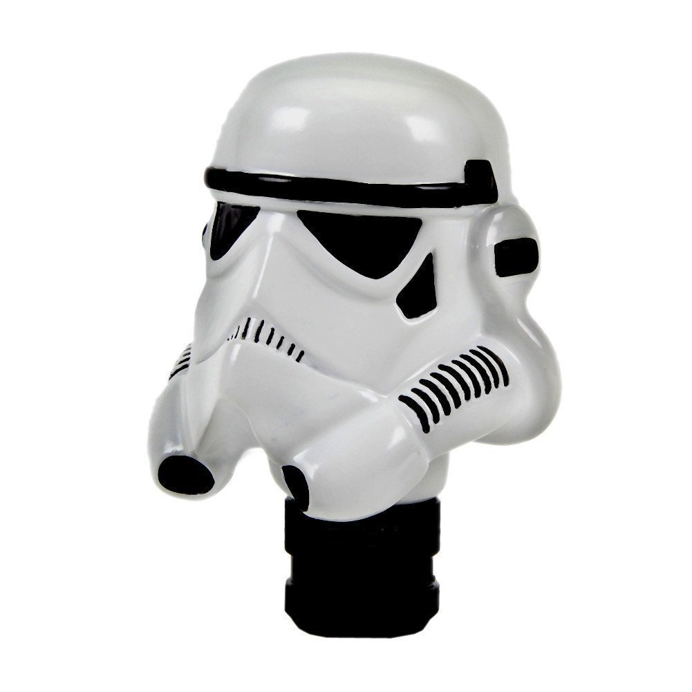 AUXMART Universal Automatic Shift Knobs Manual Gear Stick Shift Shifter Lever Knob Cover Star Wars Clone Trooper White