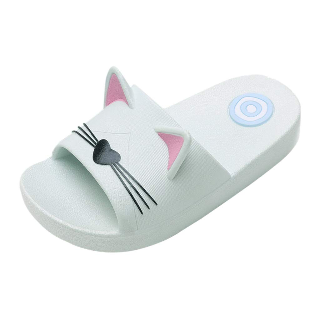 Cloudro Kids Beach Sandals Little Girl Cute Cat Shower Slippers Shoes for 4-12 Years