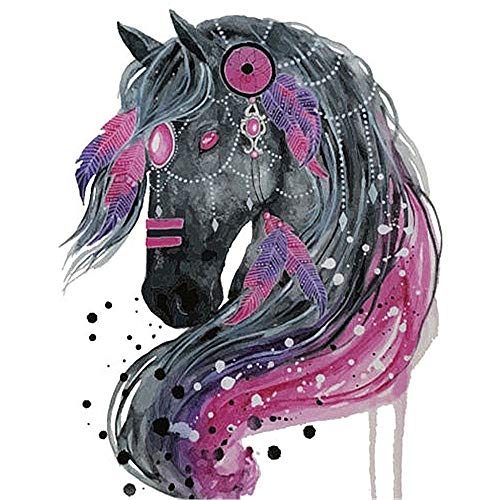 Euone  Clothes Patch, Horse Iron On Patch Heat Transfer Sticker Applique DIY Clothing T-Shirt Decor -