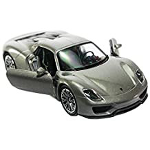 Welly 1:34-1:39 Die-cast Porsche 918 Spyder Car Grey Color Model Collection