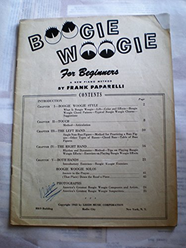 - BOOGIE-WOOGIE for Beginners A NEW METHOD BY FRANK PAPARELLI 1943