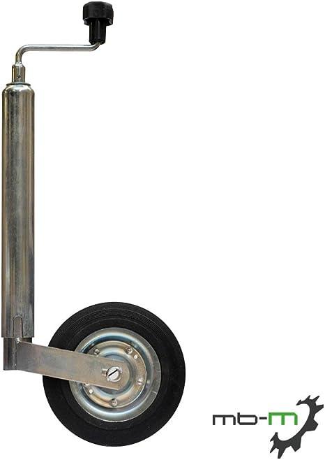 Mb M Anhänger Stützrad Bugrad Mit Drucklager Verzinkt 150kg 48mm Aufnahme Für Anhänger Wohnwagen Trailer Auto