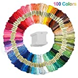 #4: Cuttte 100 Colors Embroidery Floss with 20 Pieces Floss Bobbins, Numbered Embroidery Thread Friendship Bracelets Strings Embroidery Strings for Arts and Crafts