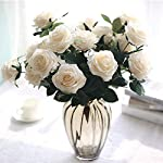 SIUONI-10-Fake-Flower-Artificial-Bouquet-French-Rose-Bouquet-Ornaments-Living-Room-Decoration-Dining-Table-Floral-Silk-Flower-ImitationMilk-White