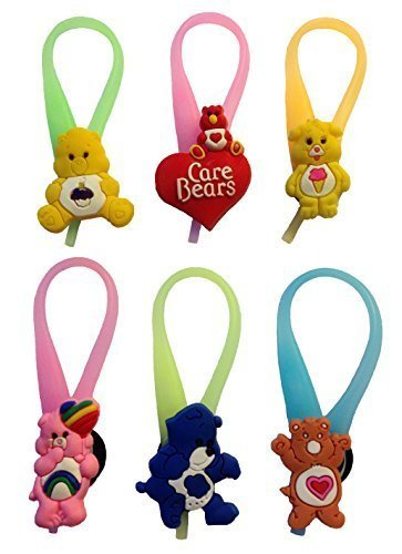 care-bears-luminescent-colorful-silicone-snap-lock-zipper-pulls-6-pcs-set-1-by-atlantis-usa