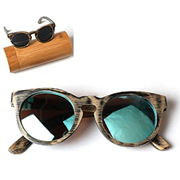 CWYPB Gafas de Sol polarizadas para niños, DIY bambú ...