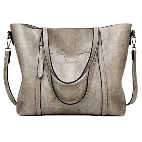 Blue Grigio Karidesh Borsa a spalla Wild Light colore Simple Leather Ladies Messenger qpZPxAvpw