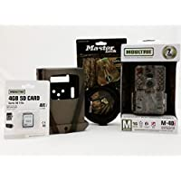 Moultrie M-40i No-Glow IR Trail Camera | Security Box | Python Cable | 4GB SD Card