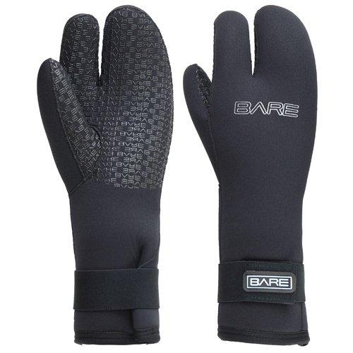 Three 7mm Finger Mitt Glove - Bare 7MM Three Finger Mitt