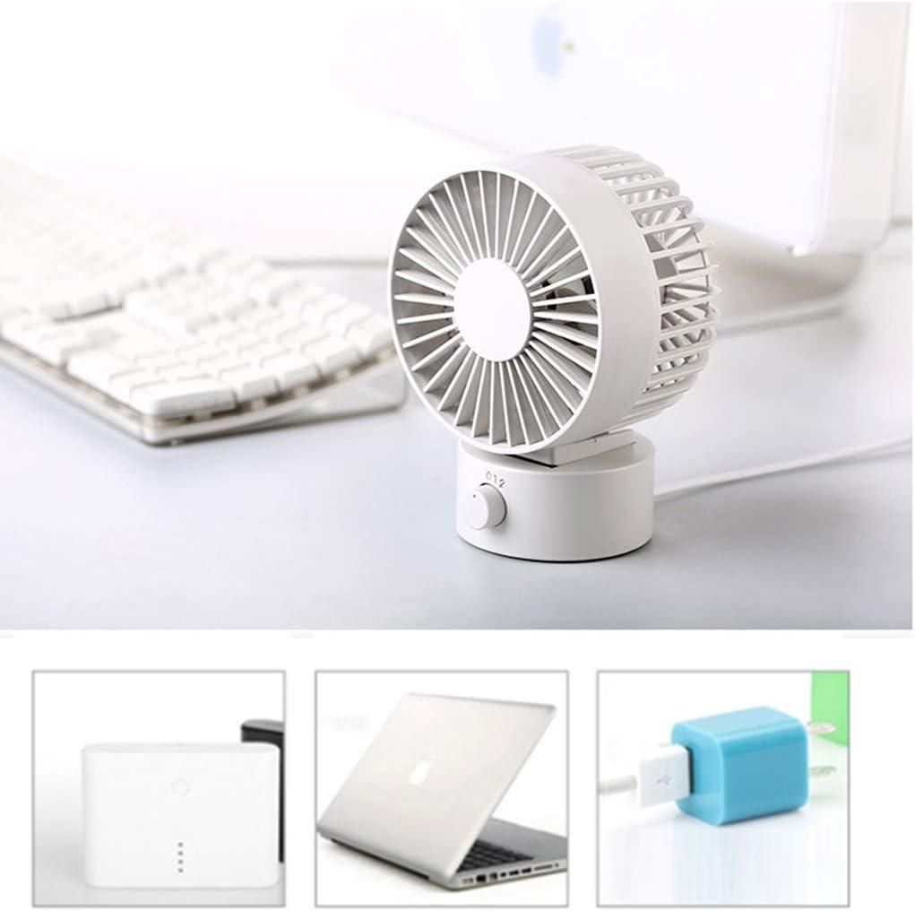 Laptop 2-Step Speed Control Home Cooling Fan,Blue Office USB Desktop Fan Laptop
