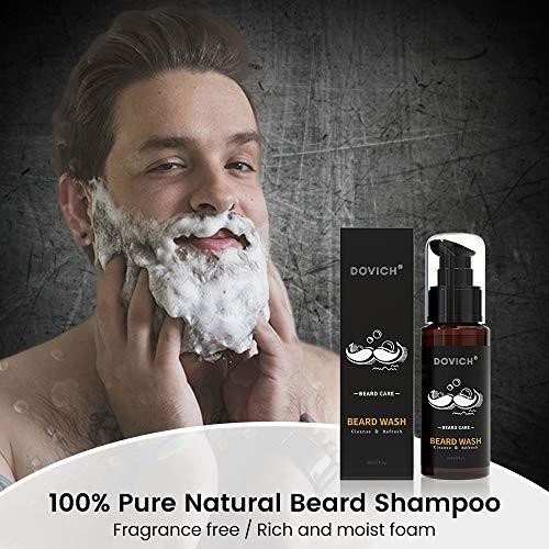 12 In 1 Beard Kit for Men, Beard Growth Kit, Beard Grooming Oil Leave-in Conditioner, Beard Apron Bib, Beard Razor…