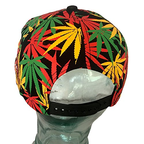 plantas All de Print diseño visera de con Ice plana de Gorra unisex con marihuana Weed King zHATwZ