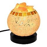 Decolighting Salt Lamp, Himalayan Salt Lamp Natural Salt Crystal Chunks in Glass Bowl with Wooden Base