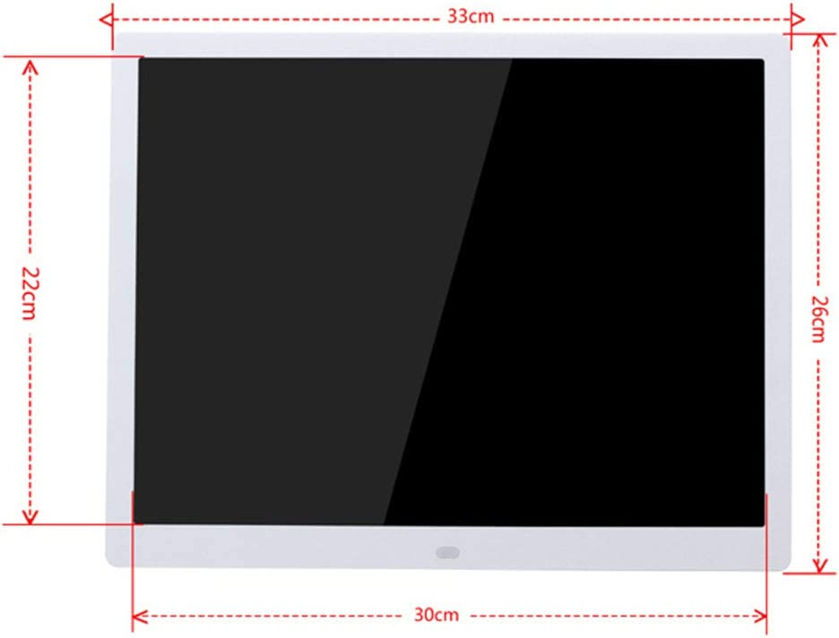 USB Port and SD Card Slot and Remote Control with 1024 x 768 IPS Display 15-inch Widescreen Digital Photo Frame