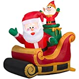 Gemmy Santa with Sleigh