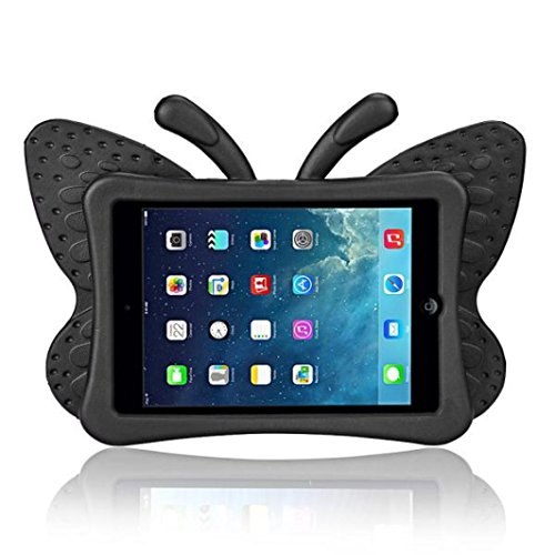 Price comparison product image GBSELL 3D Cute Butterfly Shockproof EVA Foam Stand Cover For iPad Mini 1/2/3 (Black)