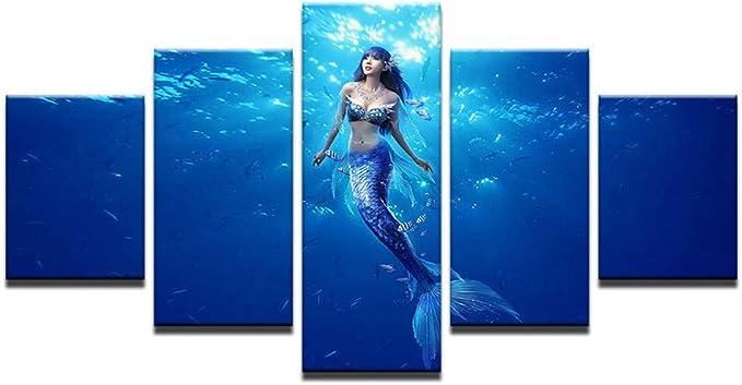 Comecong Pintura Decorativa, HD Inkjet 5 Hechizo mar Sirena Fondo ...
